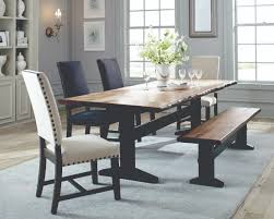 scott living burnham dark grey dining room set includes dining table and two chairs