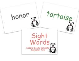 Second Grade Sight Words Flash Cards Sight Words Flashcards Second Grade Semester Two