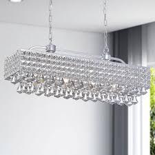 jolie silver 5light rectangular crystal chandelier silver crystal chandelier a62