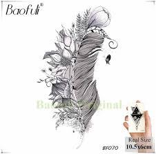 Baofuli сосновое дерево черная татуировка водонепроницаемый венок треугольник