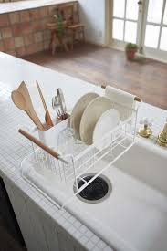 3 advantages of having dish drying rack. Tosca Over-The-Sink Dish Drainer Rack In White Design By Yamazaki 3 Advantages Of Having Drying T