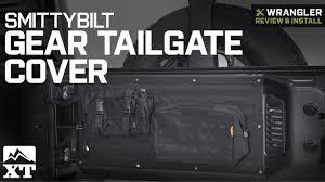 Smittybilt Jeep Wrangler GEAR Tailgate Cover - Black 5662301 (07-18 ...