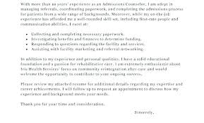 Admission Counselor Cover Letter Template. Admission Advisor ...