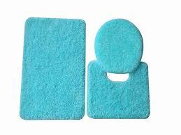 full size plain blue bathroom rug sets in three diffe shape