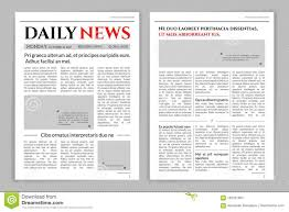 Newspaper Template No Download Newspaper Template Design Stock Vector Illustration Of Media
