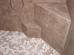 sliced java tan pebble tile shower floor s within stone shower floor renovation