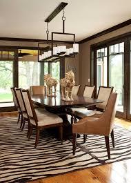 nice dining room with zebra print rug chic zebra print rug