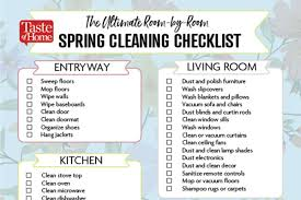 The Ultimate Room By Room Spring Cleaning Checklist Spring
