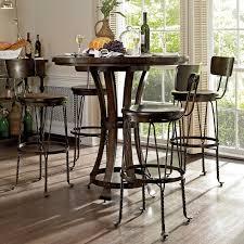 5 Piece Bar Table Set Pub Table And Chairs Linon Betty Three Piece Pub Set Elijah Pub