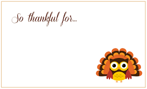 Free Printable Thanksgiving Place Cards Templates Happy Easter