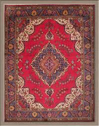 old red persian rug