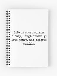 Das Leben Ist Kurz Inspirierend Tumblr Zitat Merch Spiralblock