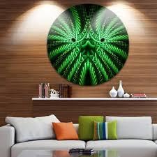designing girls bedroom furniture fractal. Designart \u0027Glowing Green Fractal Flower In Black\u0027 Abstract Round Metal Designing Girls Bedroom Furniture Fractal