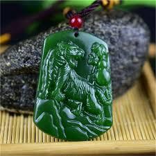 green jade tiger pendant necklace