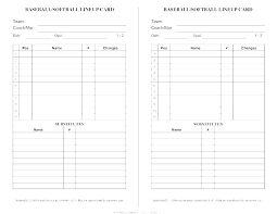 Softball Defensive Lineup Card Template For Excel Dugout
