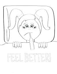 Feel Better Coloring Pages Feel Better Coloring Pages Feel Better