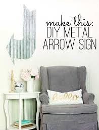 diy metal arrow sign