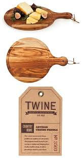country home collection acacia wood artisan cheese paddle by twine