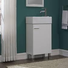 urbana white 18inch single bathroom vanity set floating bathroom cabinets39