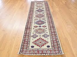 2 8 x9 9 hand knotted pure wool super kazak tribal design runner oriental rug cwr40208