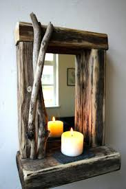 driftwood decor ideas best crafts images on drift wood rustic reclaimed  mirror with shelf unique gift