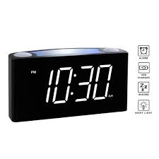 rocam cr1008 digital alarm clock with snooze 7 colored night light dimmer and battery backup