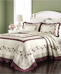 martha stewart collection cotton prairie house morning sky twin french vintage bedding
