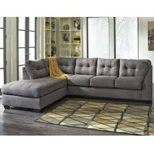 gray sectional sofas. Simple Gray Benchcraft Maier Charcoal Microfiber Sectional With Left Side Facing Chaise In Gray Sofas S