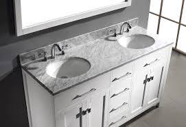 double sink bathroom vanity. virtu usa md-2060-wmro-wh caroline 60-inch bathroom vanity with double round sinks in white and italian carrera marble - amazon.com sink e