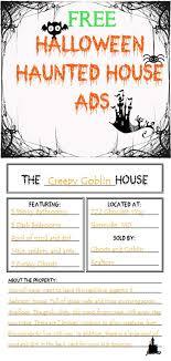 Free Haunted House Advertisement Activity Grades 2 5 Halloween