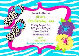 Hawaiian Pool Party Invitations Image Result For Hawaiian Themed Kids 10th Birthday Party Time