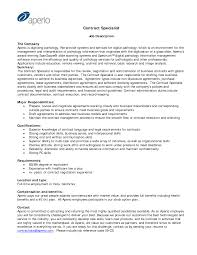 Contract Specialist Resume Example