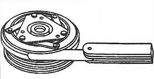 ac compressor clutch diagnosis repair mdh motors measuring compressor clutch clearance
