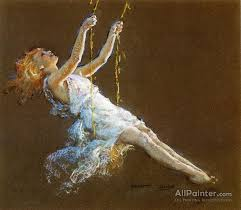 everett shinn paintings for a swing