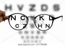 Eye Chart Letters Myopia Correction Glasses On The Eye Chart Letters Poster Id