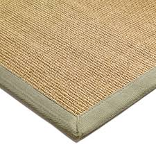 sisal rugs natural green border
