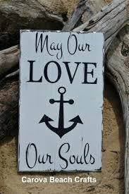 nautical wood signs beach wedding sign anchor decor wedding gift idea faith hope love soul verse engaged nautical anchors religious scripture rustic wood