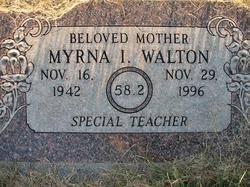 """Myrna Ione """"58,2"""" Walton (1942-1996) - Find A Grave Memorial"""