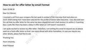 How To Write Appointment Letter How To Ask For Offer Letter By Email Waiting For Offer
