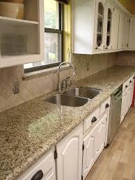 Backsplashes For Kitchens With Granite Countertops Fascinating Easy Backsplash Neutral Enough With Venetian Gold Granite