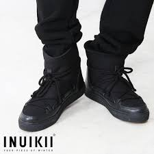2017 fall and winter inuikii mouton boots dog smart sneaker mens classic leather boots bootie leather shoes race up boots men black black free