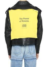balenciaga leather jacket the power of dreams replica