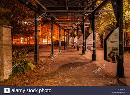 Lighting Stores Peterborough Ontario Night Lights Of Arches Walkway At Millennium Park