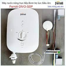 Máy nước nóng trực tiếp Ferroli có bơm, Bình nước nóng trực tiếp có bơm trợ  tăng áp Ferroli Divo SSP