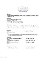 Criminal Justice Resume Cover Letter Samples Free Job Resumes