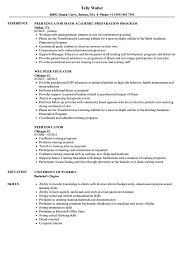 Peer Educator Resume Samples | Velvet Jobs