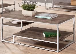 contemporary tri level coffee table coaster 703488
