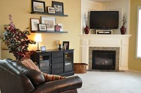 how to decorate a corner fireplace mantle with a tv ideas and tips