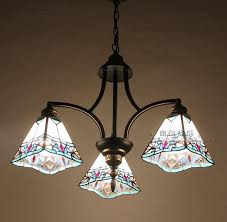 Tiffany Nordic Pastoral Style American Country Restaurant Kitchen Lamp Light  Chandelier DF135