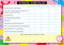 Checklist For School School Morning Checklist Dream Creative Designs